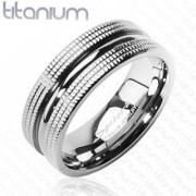 Snubní prsteny titan Spikes 3601