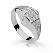 Stříbrný prstýnek se zirkony 2310