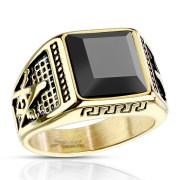 Pánský prsten chirurgická ocel 7130 - Svobodní zednáři