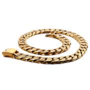Zlatý ocelový řetěz na krk WJ156