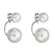 Elegantní perlové náušnice 31177.1