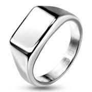 Ocelový pečetní prsten pro pány a dámy 7685ST
