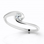 Prsten bílé zlato se zirkonem Z6134W