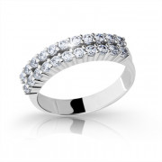 Stříbrný prstýnek se zirkony 2073