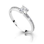Dámský stříbrný prsten se zirkony 2354