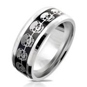 Prsten pro muže chirurgická ocel 6035-Lebka