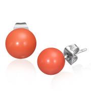 Ocelové náušnice SESSE0100 - Orange