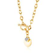Zlatý náhrdelník z chirurgické oceli SEGX1623GD