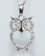 Přívěsek stříbrný sova 307092