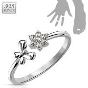 Prsten na nohu stříbrný se zirkony SETRSS006