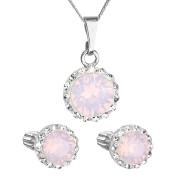 Sada stříbrných šperků s kamínky Swarovski 39352.7 Růžový opál