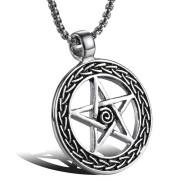 Ocelový přívěsek pentagram WJHC70