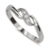 Stříbrný prstýnek se zirkony 2001