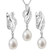 Souprava stříbrných perlových šperků 29021.1
