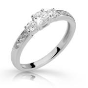 Stříbrný prsten se zirkony 2360
