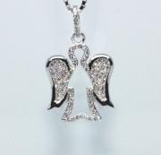 Stříbrný přívěsek andělíček 305822