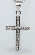 Přívěšek křížek se zirkony 304611