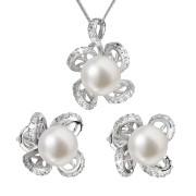 Souprava stříbrných perlových šperků 29016.1