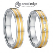 Luxusní ocelové snubní prsteny SPPL011