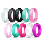 Silikonové dámské prsteny souprava deseti kusů JCFSH1000