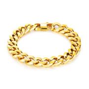 Zlatý náramek z chirurgické oceli SEGS720-12GD