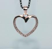 Přívěšek srdce stříbro 308027