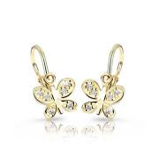Dětské náušnice zlaté Cutie Jewellery C2748Z-Bílá