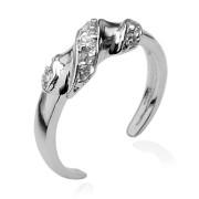 Prsten na nohu stříbro 925/00 se zirkony SE011