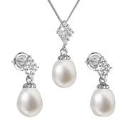 Perlová souprava stříbrných šperků 29018.1