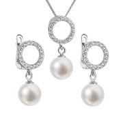 Souprava stříbrných perlových šperků 29013.1