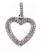 Stříbrný přívěšek srdce 303674