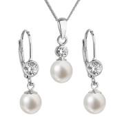 Souprava stříbrných perlových šperků 29006.1
