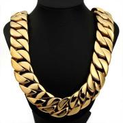 Pánský řetěz na krk zlatý chirurgická ocel WJHN01-GD