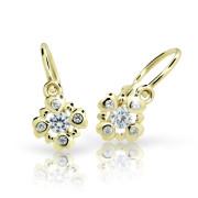 Dětské naušnice zlaté Cutie Jewellery C2253Z White