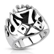 Ocelový prsten 3992