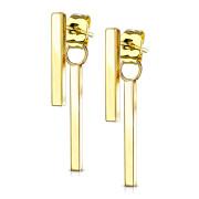 Dlouhé náušnice z chirurgické oceli 3631-Gold