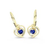 Dětské náušnice srdíčka Cutie Jewellery C2752Z Blue Dark