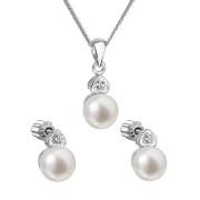 Perlová souprava stříbrných šperků 29001.1