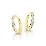 Zlaté náušnice kroužky Cutie Jewellery C3342Z-Arctic Blue