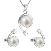 Souprava stříbrných perlových šperků 29031.1