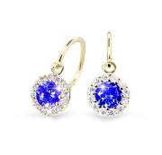 Dětské náušnice zlaté Cutie Jewellery C2745Z-Blue Dark