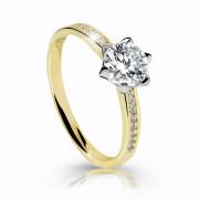 Zásnubní prstýnek se zirkony zlatý Z6149Y