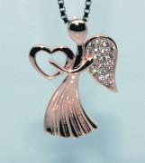 Stříbrný přívěsek andělíček 308316