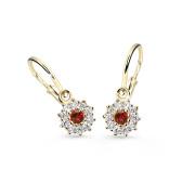 Dětské náušnice zlaté Cutie Jewellery C2749Z-Red