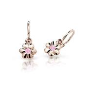 Dětské náušnice zlaté Cutie Jewellery C1736R-Pink