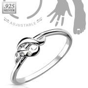 Stříbrný prstýnek na nohu 007