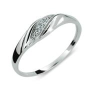 Stříbrný prsten se zirkony 2084