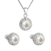 Souprava stříbrných perlových šperků 29004.1
