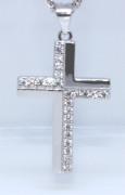 Přívěšek křížek se zirkony 306200