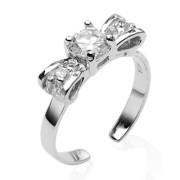 stříbrné prsteny na nohu 024